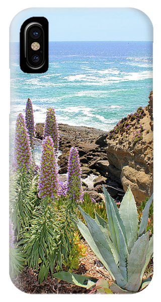Laguna Coast With Flowers IPhone Case