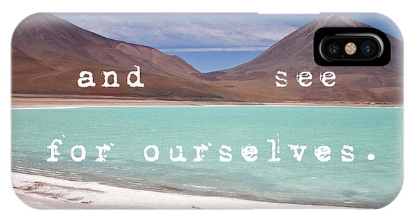 Laguna Verde- Bolivia IPhone Case