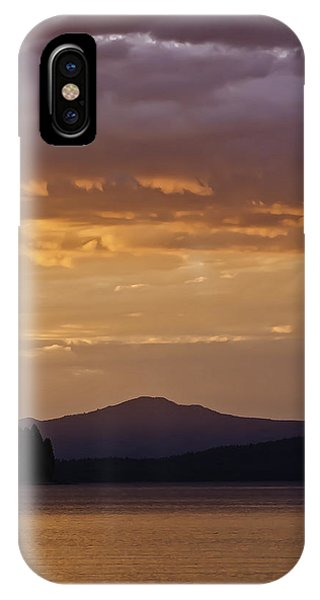 IPhone Case featuring the photograph Lake Almanor Sunset by Sherri Meyer