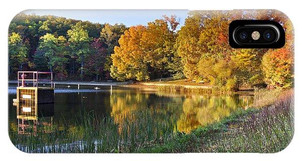 Chilhowee iPhone Case - Lake At Chilhowee by Debra and Dave Vanderlaan