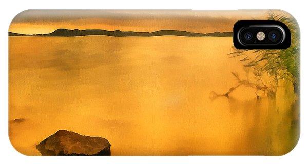 Lake Balaton Sunset Paint IPhone Case