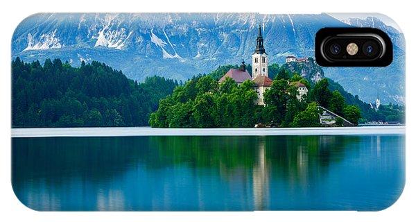 Lake Bled Island Church IPhone Case