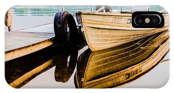 Lake Boat Reflection IPhone Case
