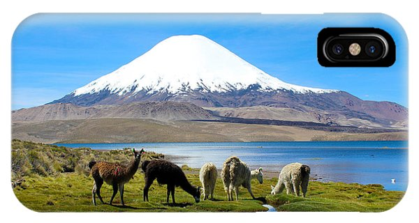 Lake Chungara Chilean Andes IPhone Case