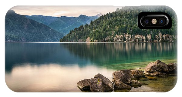 Lake Crescent Zen IPhone Case