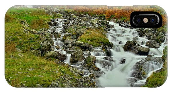 Lake District Waterfall IPhone Case