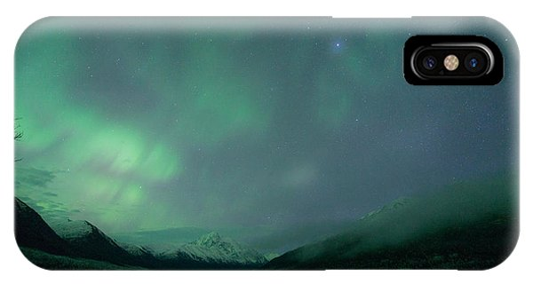 Lake Eklutna Aurora IPhone Case