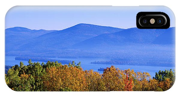 Deciduous iPhone Case - Lake George, Adirondack Mountains, New by Panoramic Images