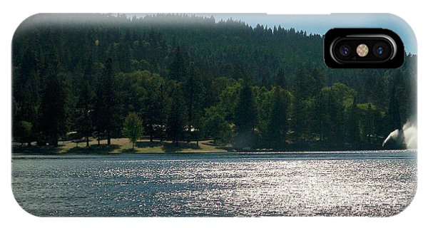 Scenic Lake Photography In Crestline California At Lake Gregory IPhone Case