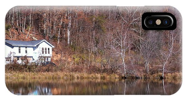 Lake House Blue Sky IPhone Case