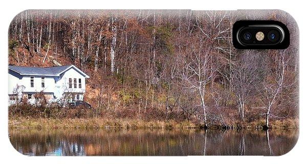Lake House Blue Sky IPhone Case
