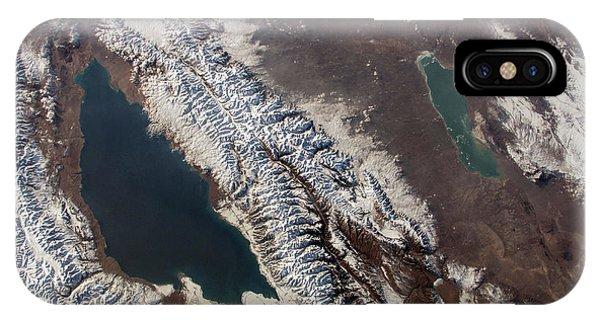 International Space Station iPhone Case - Lake Issyk Kul by Nasa