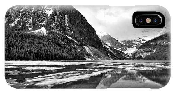 Lake Louise - Black And White #3 IPhone Case