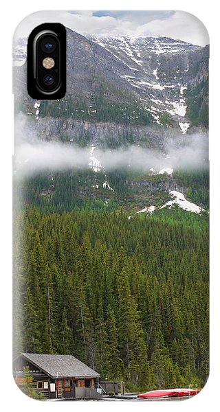 Lake Louise Cabin IPhone Case