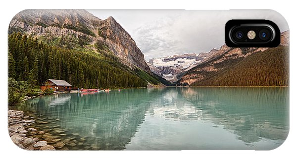 Lake Louise Canoe Rental IPhone Case