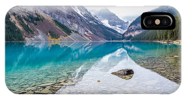 IPhone Case featuring the photograph Lake Louise In Banff National Park Alberta by Pierre Leclerc Photography