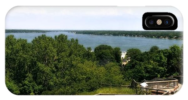 Michelle iPhone Case - Lake Macatawa From Mount Pisgah by Michelle Calkins