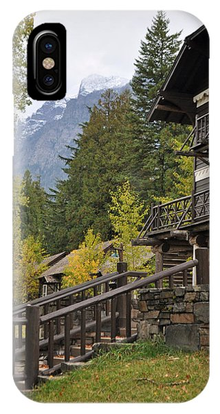 Lake Mcdonald Lodge In Glacier National Park IPhone Case