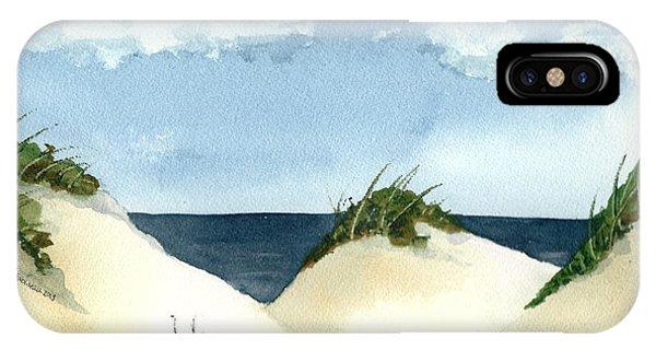 Lake Michigan Dunes IPhone Case
