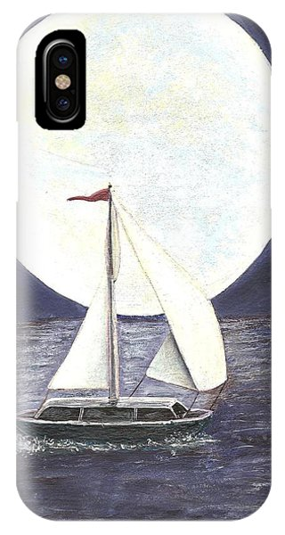 Lake Michigan Full Moon IPhone Case