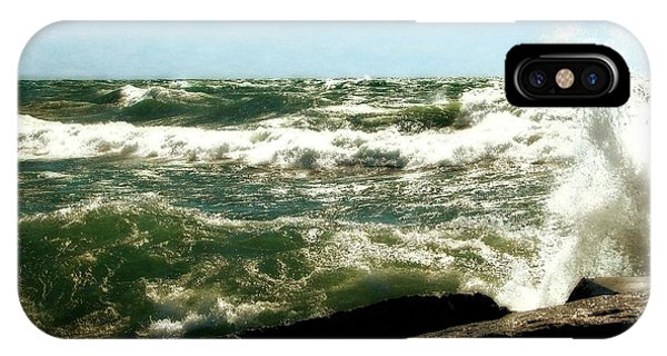 Lake Michigan In An Angry Mood IPhone Case