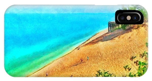Lake Michigan Overlook On The Pierce Stocking Scenic Drive IPhone Case