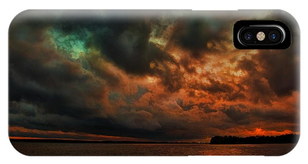 Lake Murray Fire Sky IPhone Case