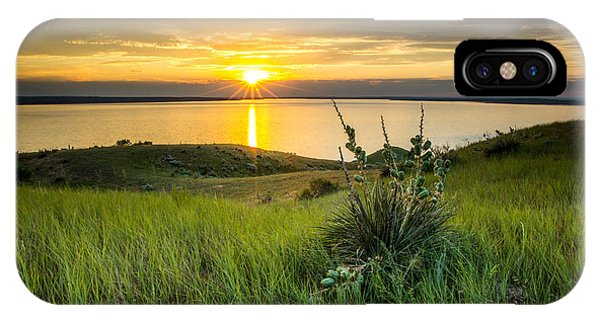 Lake Oahe Sunset IPhone Case