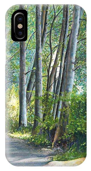 Lake Padden Series - Kathleen Keller Memorial Bench IPhone Case