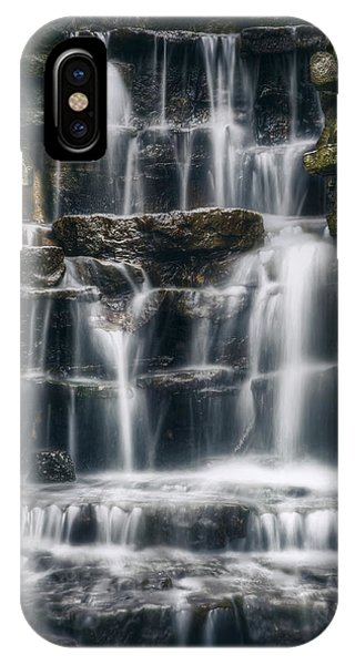 Creek iPhone Case - Lake Park Waterfall 2 by Scott Norris