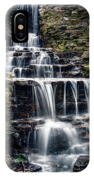 Flow iPhone Case - Lake Park Waterfall by Scott Norris