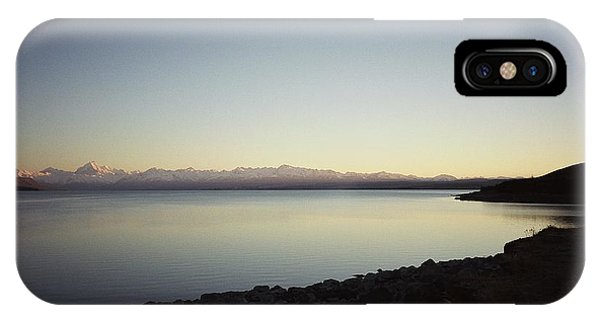 Lake Pukaki First Light IPhone Case