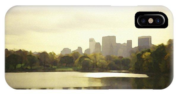 Lake Reflection Skyline 3 IPhone Case