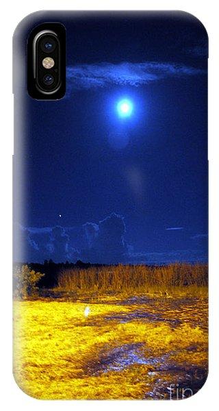 Moonrise Over Rochelle - Portrait IPhone Case