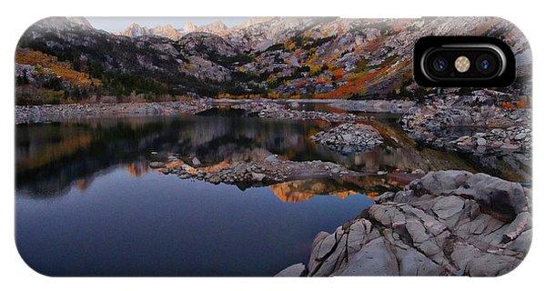 Lake Sabrina Fall Colors At Sunrise IPhone Case