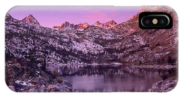 IPhone Case featuring the photograph Lake Sabrina Sunrise Eastern Sierras California by Dave Welling