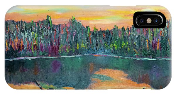 Lake Schwartzwood Sunset IPhone Case