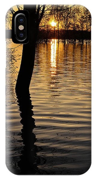 Lake Silhouettes IPhone Case