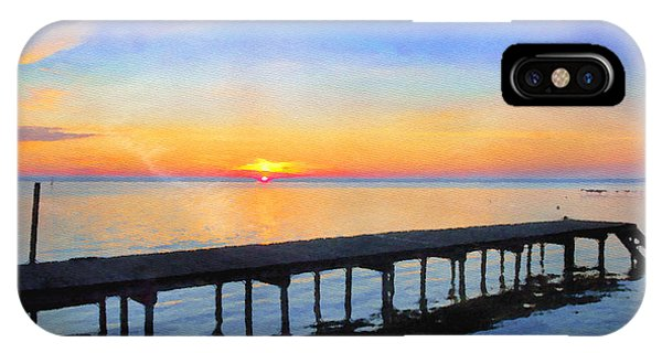 Lake Sunrise - Watercolor IPhone Case