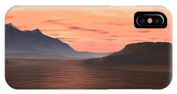 Lake Sunset 1 IPhone Case