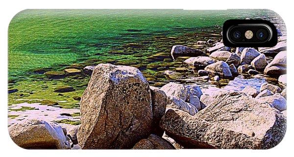 Lake Tahoe Green IPhone Case