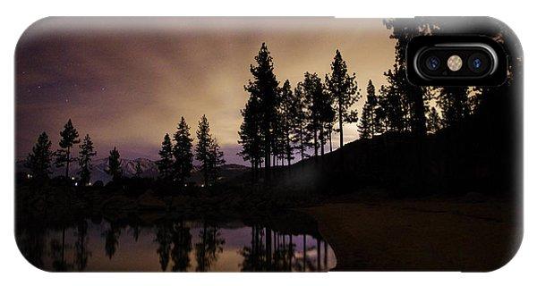 Lake Tahoe Sand Harbor Silhouette IPhone Case