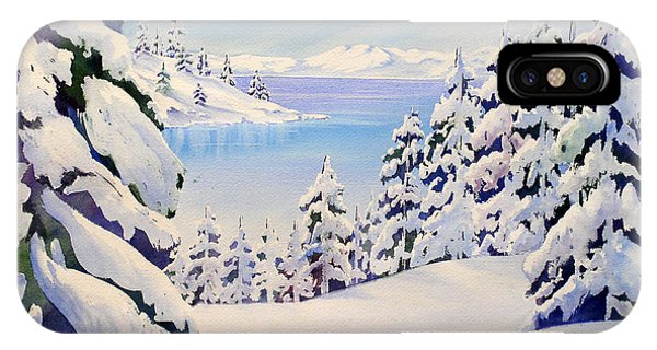 Lake Tahoe Winter IPhone Case