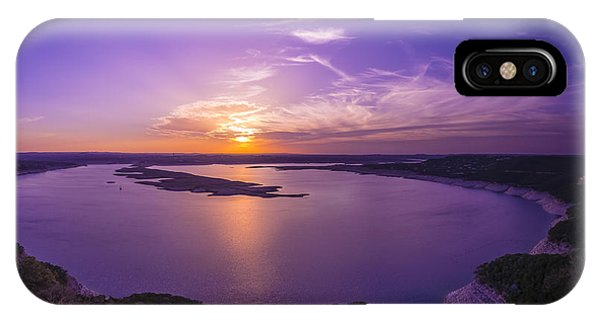 Lake Travis Sunset IPhone Case