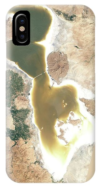 Controversial iPhone Case - Lake Urmia by Nasa Earth Observatory