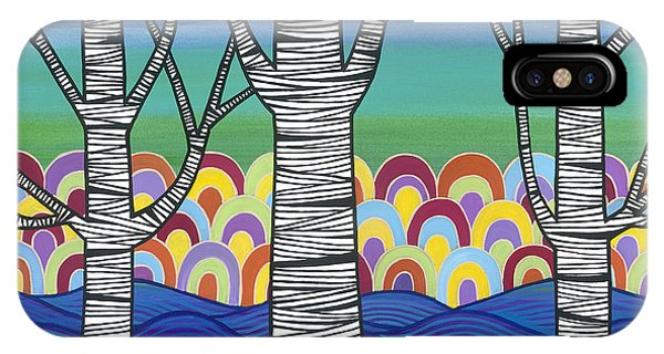 IPhone Case featuring the painting Lake View by Carla Bank