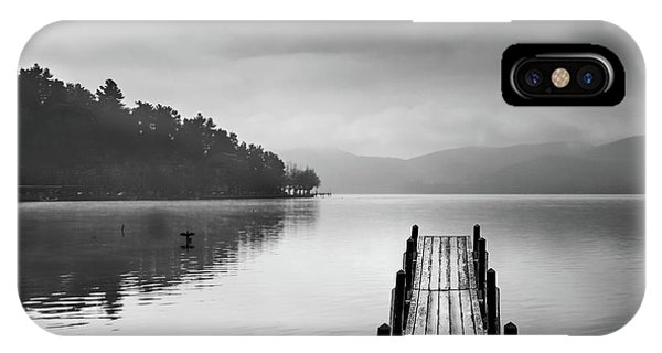 Pier iPhone Case - Lake View With Pier II by George Digalakis