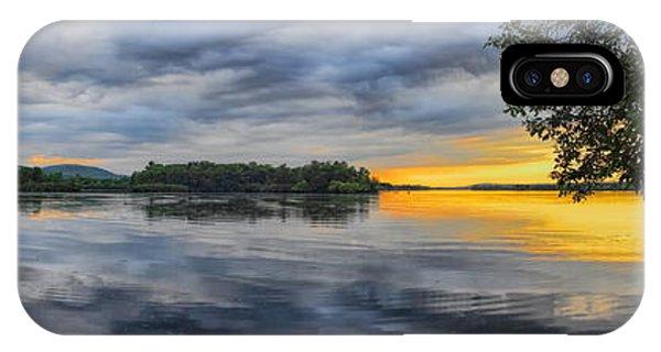 Lake Wausau Summer Sunset Panoramic IPhone Case