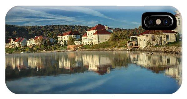 Lake White Morning IPhone Case