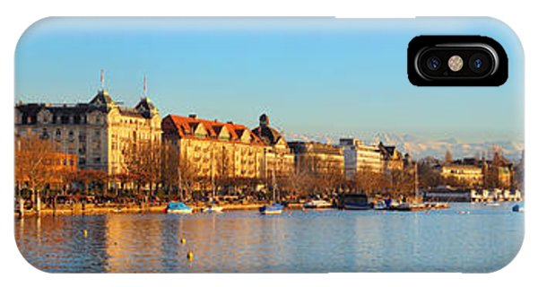 Lake Zurich Panorama IPhone Case